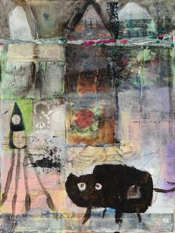 The Cat Lady in Her Studio
