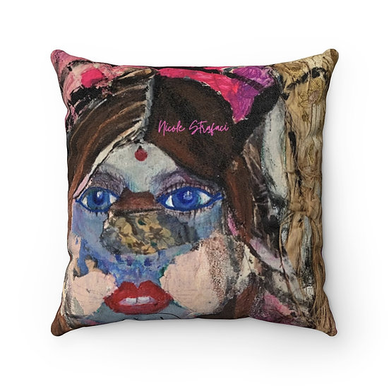 Third Eye Faux Suede Square Pillow