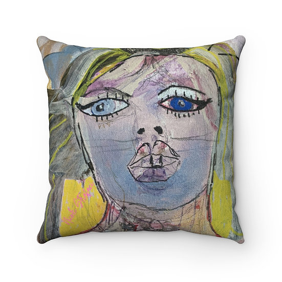 California Starlet Faux Suede Square Pillow