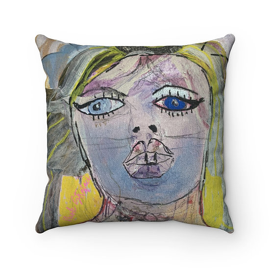 California Starlet Faux Suede Square Pillow Case