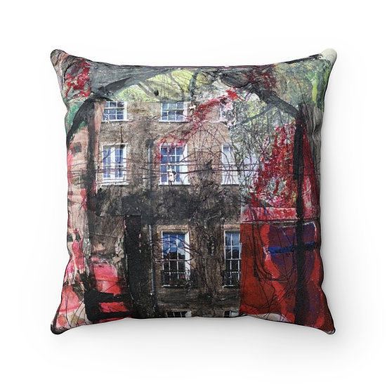 Red Barn Dream Home Faux Suede Square Pillow Case