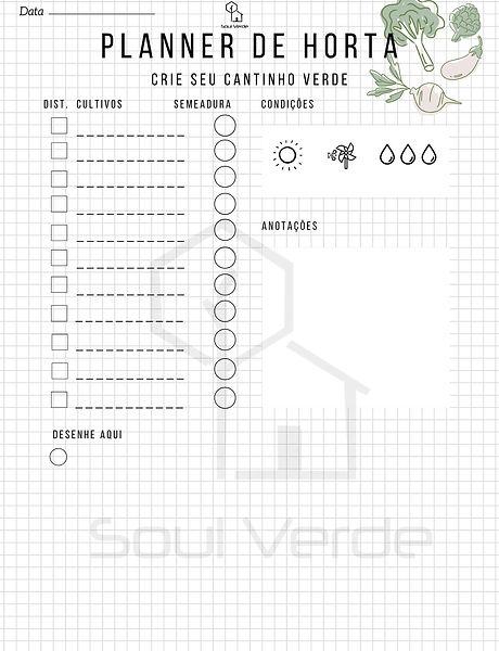 Planner de Horta + Infos de Cultivares