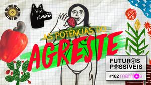 capa do podcast Mamilos feita por Zeca Bral (Capa desenvolvida a partir de colagem das artes dos pernambucanos J. Borges, Samico e Bozó Bacamarte)