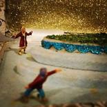 Little people in winter skate story box_