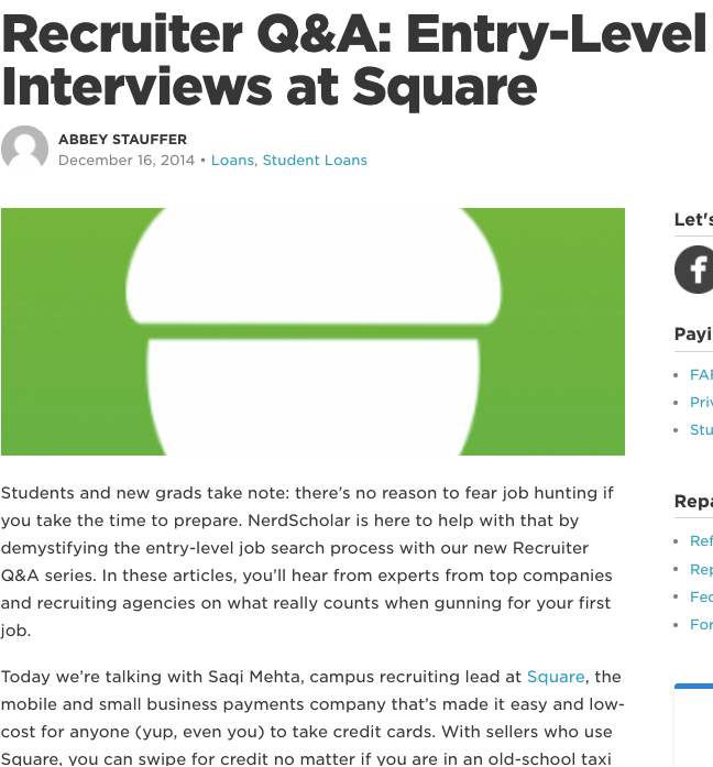 Recruiter Q&A: Entry-Level Interview