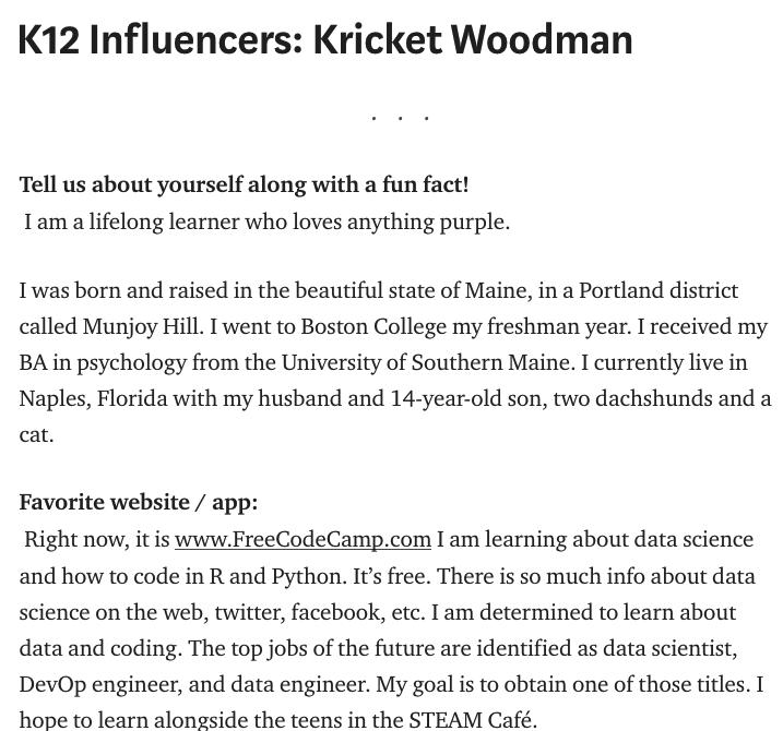 Kricket Woodman