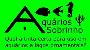 Qual a tinta ideal para aquários e lagos ornamentais?