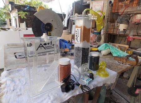 Deionizador e reator de Biopelles do Anderson da  BA