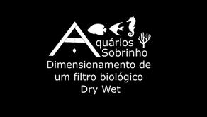 Dimensionamento de um filtro biológico do tipo Dry Wet para aquários, lagos e baterias de peixes
