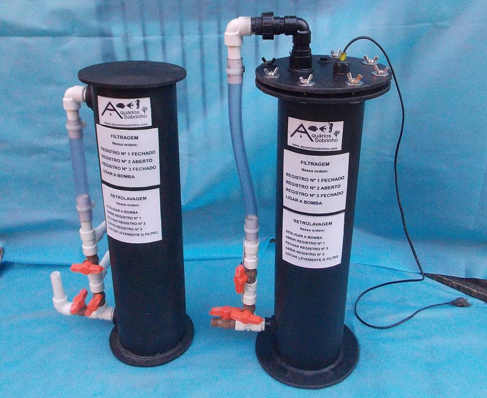 filtro canister aquário lago filtragem