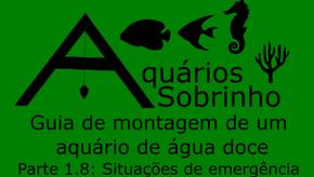 Guia de montagem de um aquário de água doce - Parte 1.8: Situações de emergência