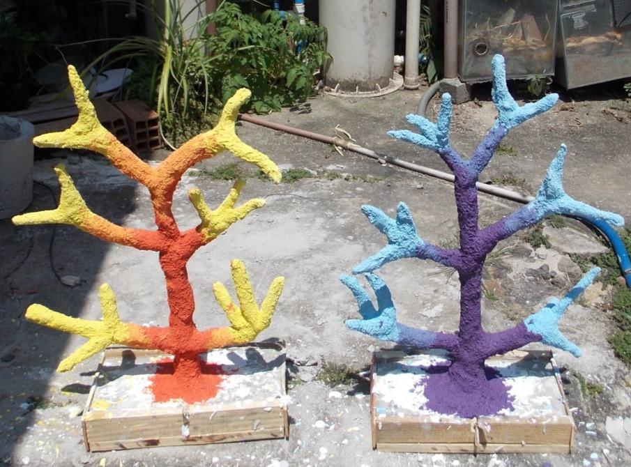 coral artificial decoração aquário