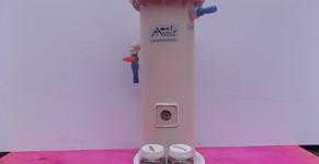 Reator fluidizado de aragonita para controle de pH de baterias, aquários e lagos