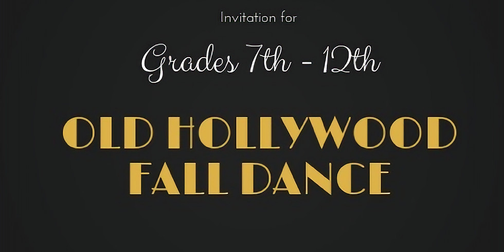 """""""Old Hollywood"""" Fall Dance"""
