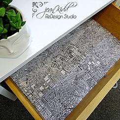 MCM table inside drawer | Jean Kidd ReDesign