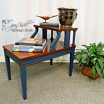 Vintage Mahogany step table by Jean Kidd ReDesign