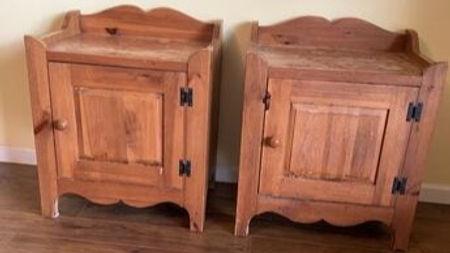 damaged pine cabinets