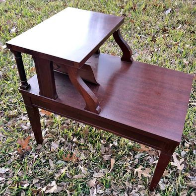 Two-tier MCM end table