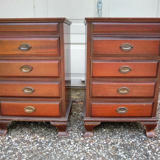Multi-drawer mahogany small chests