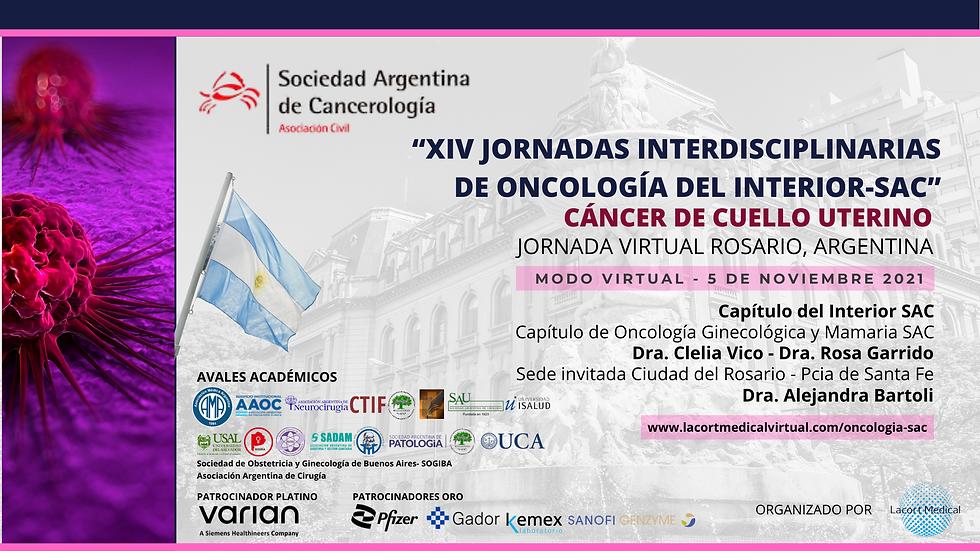 """BANNER """"XIV JORNADAS INTERDISCIPLINARIAS DE ONCOLOGÍAA DEL INTERIOR-SAC"""" (Presentation) (1"""