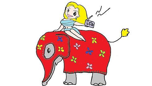 象に乗るよーこさん.jpg