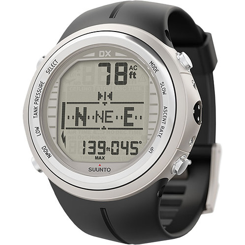 SUUNTO - DX Wrist Computer with USB and Rubber Strap, Silver