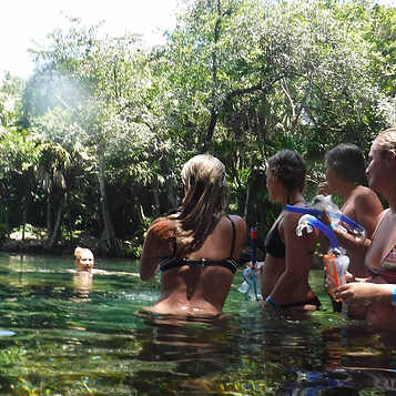 Girls in Open Cenote 2 Xtabay ARMExpedic