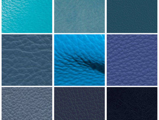 Go Blue! Upholstery Leather