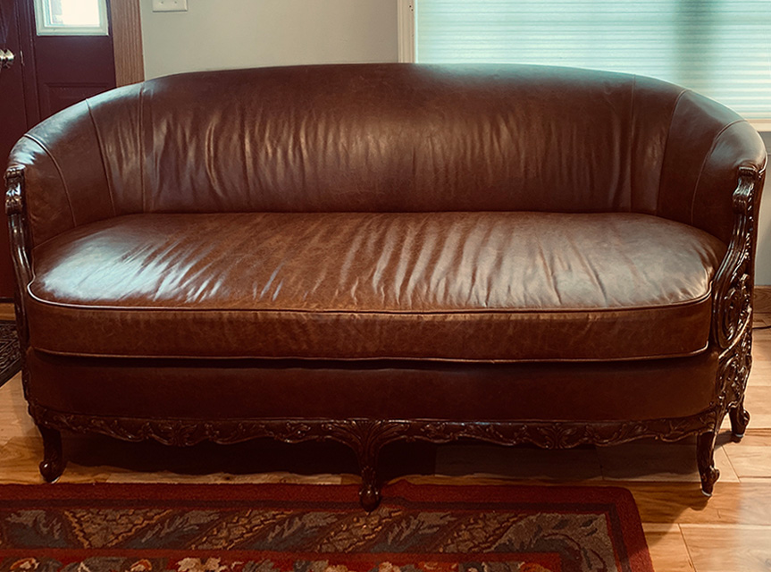 DARK BROWN COWBOY COUCH