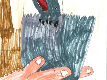 FAN ART:Baby Blue from Jurassic Park by Disney