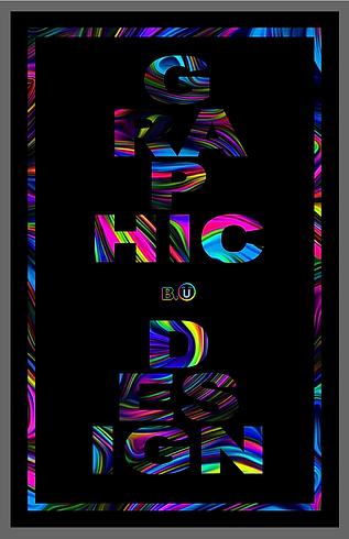 Neon Swirls GRAPHIC DESIGN Poster by B.U.png