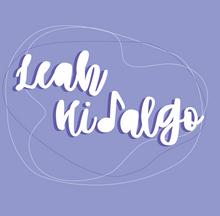 "LEAH HIDALGO BASIC LOGO - PURPLE AND WHITE ABSTRACT_Address Labels - 20-sheet (1"" x 4"").pn"