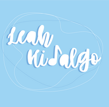 """LEAH HIDALGO BASIC LOGO - BLUE AND WHITE ABSTRACT_Address Labels - 20-sheet (1"""" x 4"""").png"""