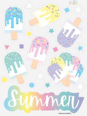 Ice Cream Bars Sticker Poster - 18%22 x 24%22 - B.U.png
