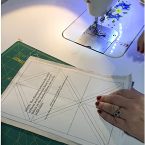 How To: use triangle papers to create patchwork half-square triangles