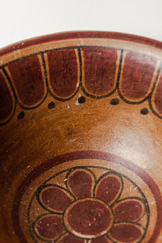 (detail) antique ceramic bowl used as prop