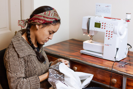 sewing a drews from scratch using historic bedouin patterns