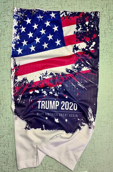 American flag, Trump 2020 Gaitor