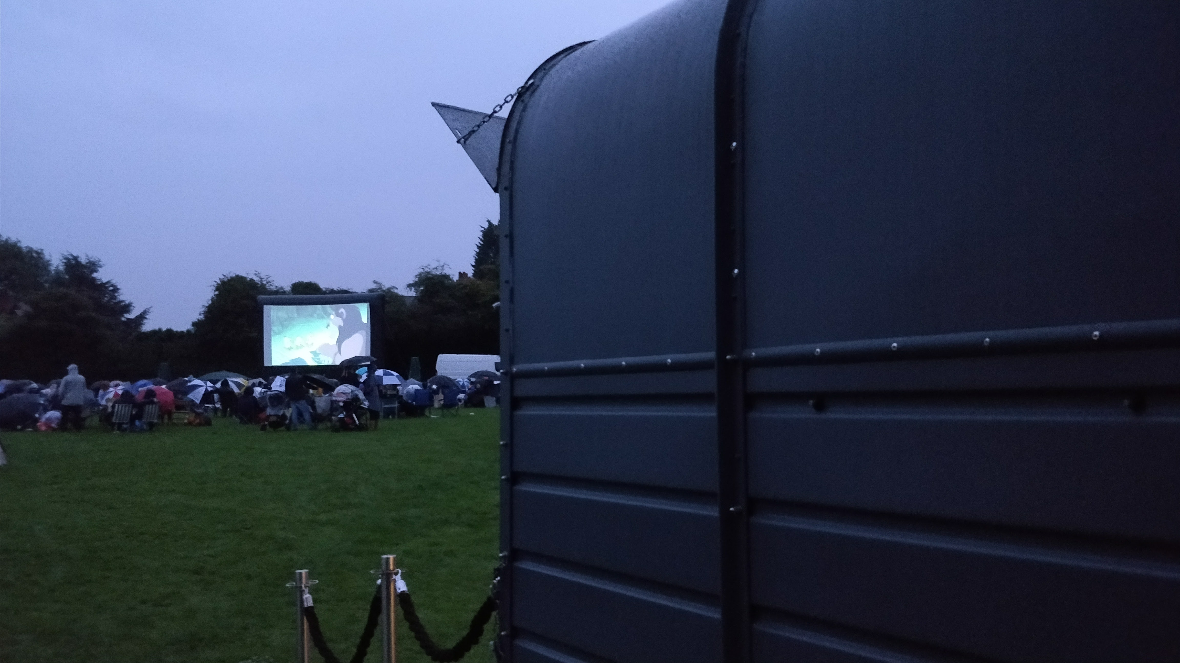 Outdoor cinema ... in the rain!!