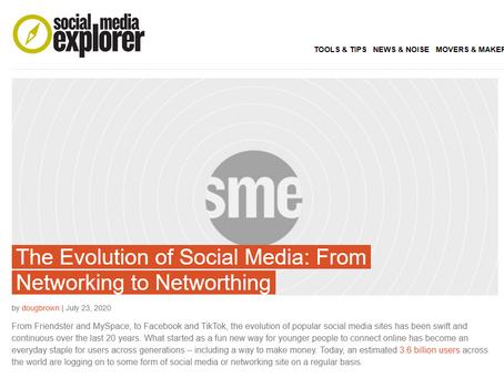 Webtalk in the News: Social Media Explorer