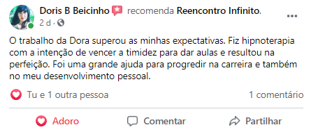 Reencontro Infinito_Dora Alcaria_Resultados