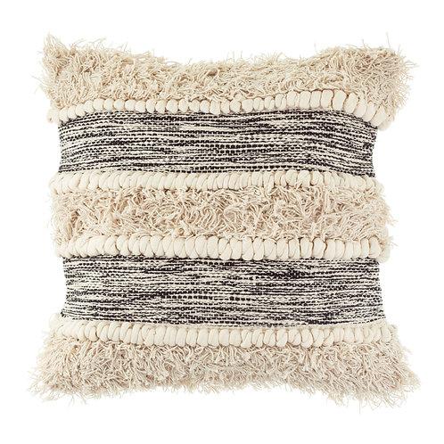 Hvit Scandi Tufted Stripe Cushion