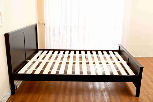 double size bed frame chocolatewhite - Double Size Bed Frame