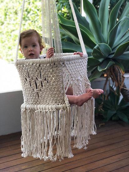 Macrame Baby Swing