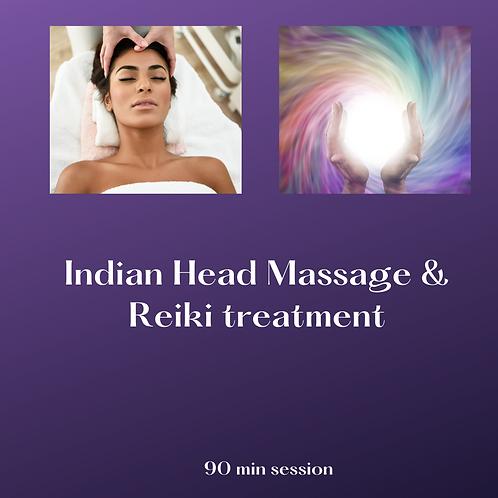 Indian Head Massage & Reiki treatment