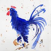 Blue Speckled Cockerel