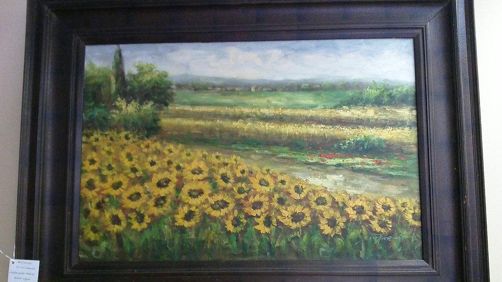 """Sunflower Field"" Artist Signed"