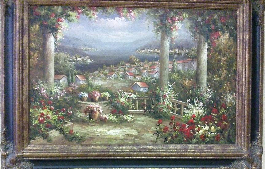 """Mediterranean Landscape"" Artist Signed"
