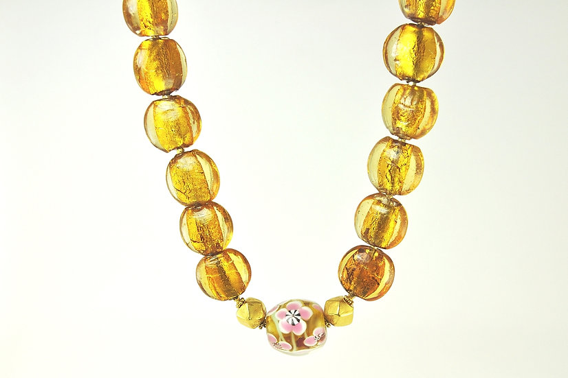 Italian Bead Necklace and Earrings