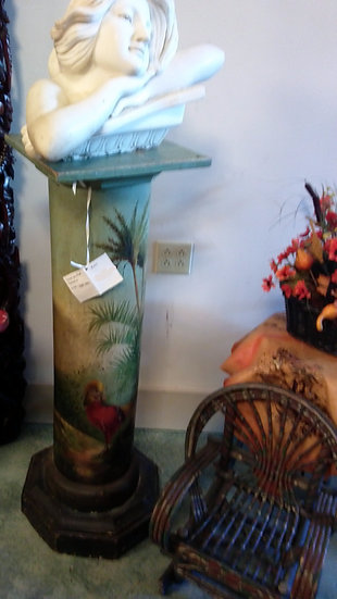 Hand Painted Pedestal